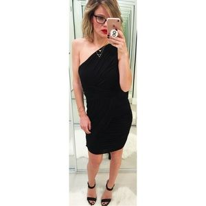 Bailey 44 Black One Shoulder Mini Dress